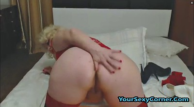 Granny dildo masturbation, Big butt, Ass to mouth
