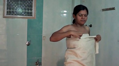 Indian, Aunty, Indian aunty, Change, Bathroom