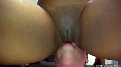 Femdom, Blacks and whites, Black ass, Lick foot
