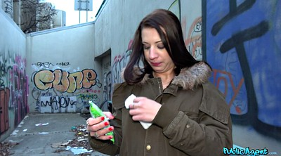 Street, Public money, Czech casting, Public blowjob