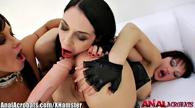 Leather, Lesbian anal, Gaping