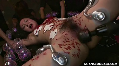 Japanese dildo, Electric, Wax, Torture tits, Waxing, Tit torture