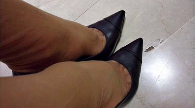 Office foot, Shoe, Nylon feet