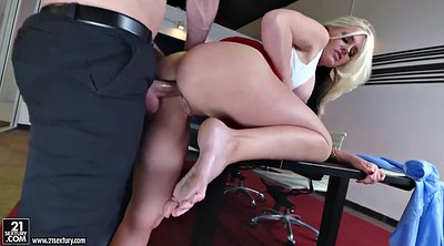 Office, Alena croft, Secretary, Office feet, Big upskirt, Croft