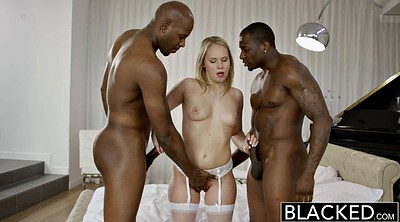 Skinny big tits, Interracial threesome