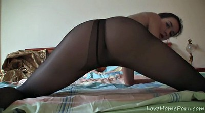 Ebony pantyhose, Black homemade, Pantyhose tease