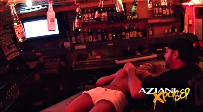 Bar, Outdoors, Upskirts, Shot, Flashing tits