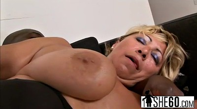 Mature blonde, Granny tits, Stretching pussy, Blonde granny, Black tits, Black on blonde