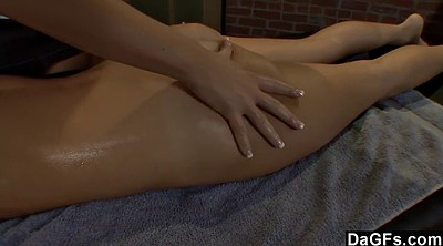 Lesbian strapon, Oiled, Massage lesbian, Oiled lesbians