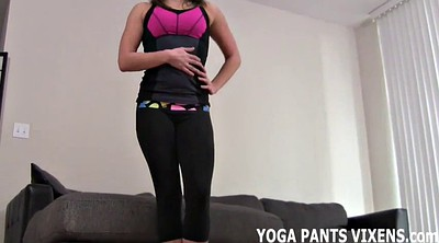 Femdom, Pant, Ebony, Blow, Tight pants, Yoga pants