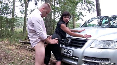 Pissing, Forest, Tera, Pissing granny, Outdoor piss, Granny pissing