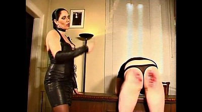 Leather, Latex mistress, Hard spanking, Hard spank