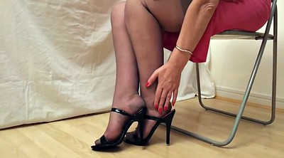 Fetish, Stocking heels, Mature stockings, Black stockings, Mature stocking, Heels mature