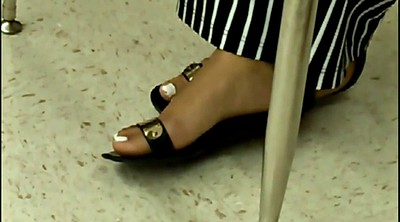 Candid, Black foot, Fetish, Teen feet, Teen black, Milf and teen
