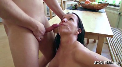 Mom, First, Naked, Young and old, Teen fuck, First mom