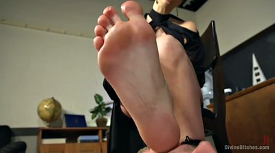 Spanked, Foot licking, Female, Chanel preston, Lick foot