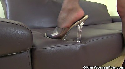 Pantyhose milf, Mature nylon