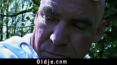 Old and young, Young girls, Teen and old, Young blowjob, Old and teen, Garden