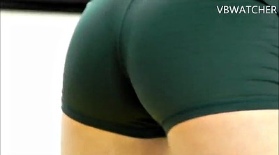 Sport, Volleyball, Green, Spandex