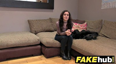 Fake tits, Fake casting, British teen