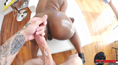 Black creampie, White ass, Ebony ass, Black cock creampie, Black white