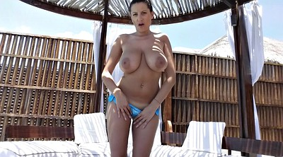 Busty mature, Outdoor mature