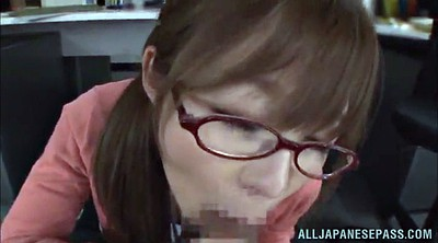 Japanese office, Asian handjob
