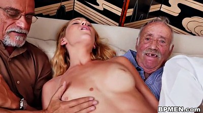 Granny gangbang, Cute, Group sex, Young and old, Granny group