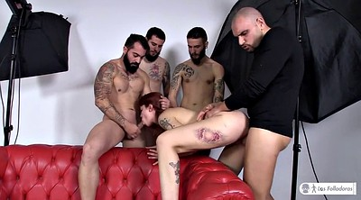 Red, Spanish, Pick up, Amateur gang bang