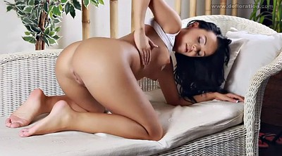 Virgin, First time, Solo orgasm, Small tits solo, Small tit, Gorgeous