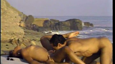 Beach sex, Handjob facial, Ebony facial