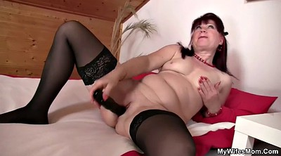 Dildo, Old mother, Mature big, Big mother