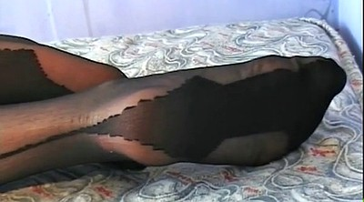 Stockings feet, High heels, Ebony stockings