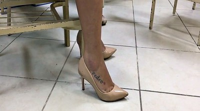 High heels, Candid, High, Candid feet, Tatoo