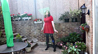Pantyhose, Dress, Alison, Red