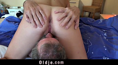 Grandpa, Old and young, Young and old, Kinky, Stomach, Old cum