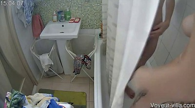 Shower, Young pussy, Hidden cam shower