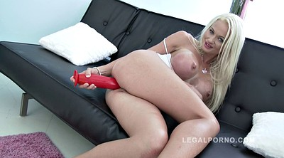 Anal toy , Face fuck, Double toy, Double cock, Blonde anal