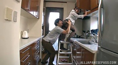 In the kitchen, Pussy pantyhose, Upskirts, In kitchen, Asian pussy