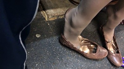 Nylon feet, Nylon foot, Shoeplay, Foot nylon, Candid feet, Footing