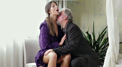 Fetish, Young tits, Old guy, Innocence