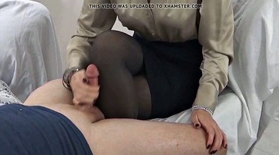 Nylon feet, Stockings, Pantyhose feet, Pantyhose cum, Nylon handjob, Pantyhose handjob