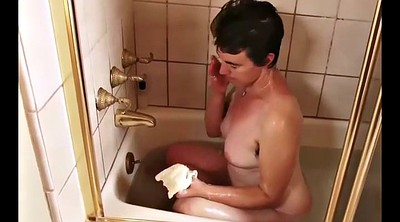 Hairy granny, Granny solo, Shower solo, Mature solo
