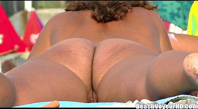 Nudist, Beach voyeur, Nude, Big clit, Beach nudist
