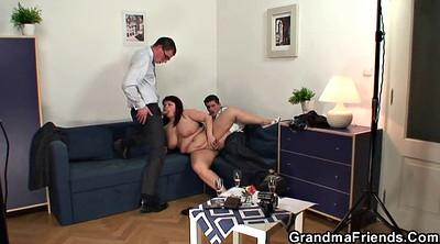 Granny threesome, Young wife, Wife threesome, Wife swallows, Threesome wife