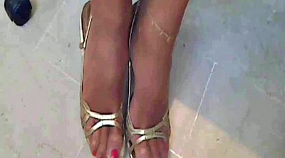 Nylon foot, Sexy, Super cock, Foot office
