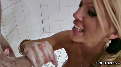 Mom and son, Son and mom, Young son, Step son, Son shower, Mom handjob