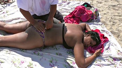 Old man, Massage hidden, Indian cam, Beach