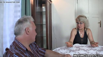 Mature couple, Old couple, Granny threesome
