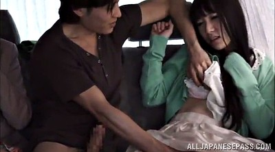 In car, Japanese threesome